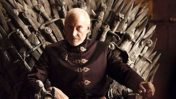 Charles Dance Tywin Lannister Game of Thrones Iron Throne