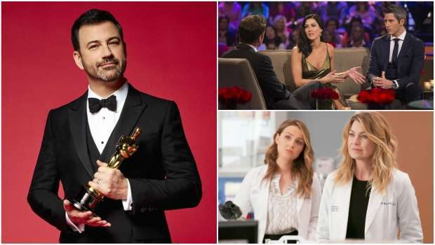 Audiência, Mix de Audiência, The Bachelor, Oscar, Grey's Anatomy,