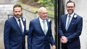 Rupert Murdoch e Filhos