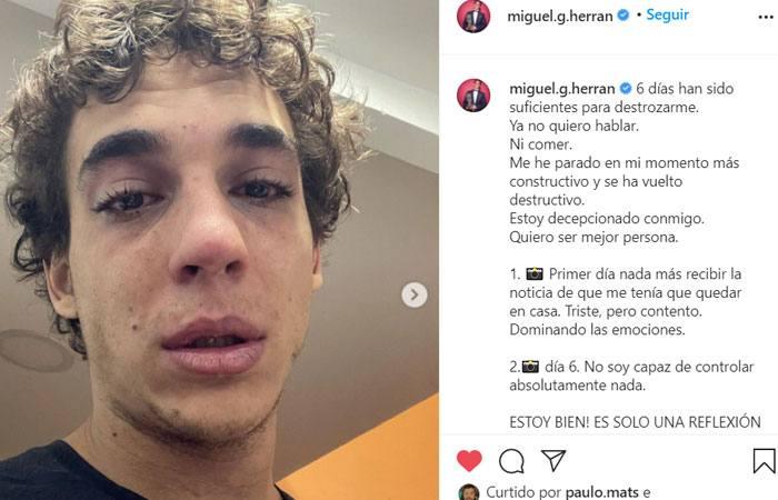 La Casa de Papel Miguel Herran chora