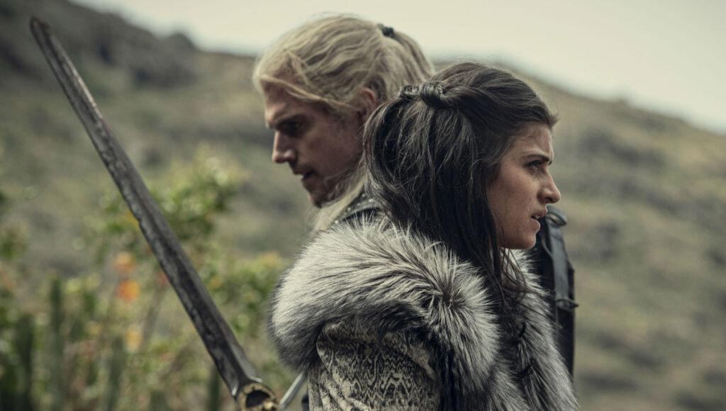 The Witcher henry cavill duas espadas